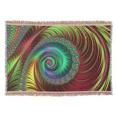 Fractal Art 38 Throw Blanket