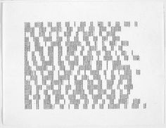 Carl Andre's Concrete Poetry, 1975