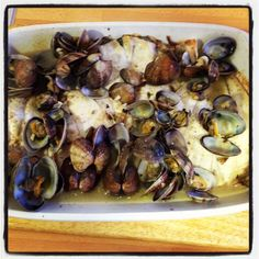 haddock with clams!