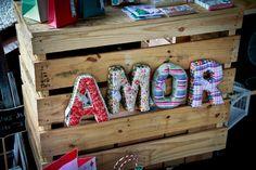 Letras em tecido {amor} | Festá Ideas | Elo7