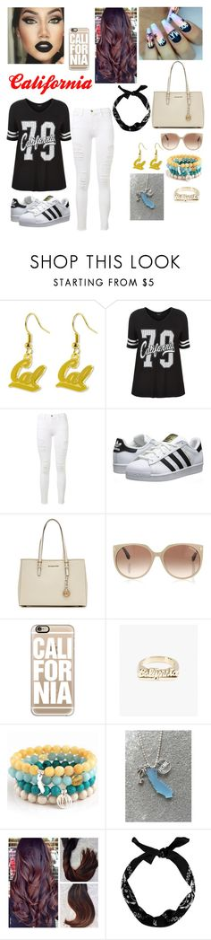 """""""California outfit 🌴💦"""" by skyangel625 ❤ liked on Polyvore featuring aminco, Frame, adidas Originals, MICHAEL Michael Kors, Tom Ford, Casetify, Snash Jewelry, Blooming Lotus Jewelry and New Look"""
