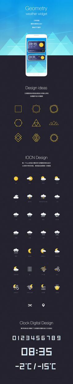 Geometry Weather widget icon by Seevisual Mazhe, via Behance