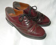 Men's Brogues Oxblood Vintage Size 9 Vintage Shoes, Vintage Men, Vintage Items, Vintage Outfits, Oxblood, Men S Shoes, Brogues, Oxford Shoes, Dress Shoes