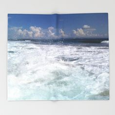 Sea Soul Waves Throw Blanket by azima Throw Blankets, Waves, Sea, Pillows, City, The Ocean, Cities, Ocean Waves, Ocean
