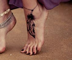 #Feather Anklet #tattoo