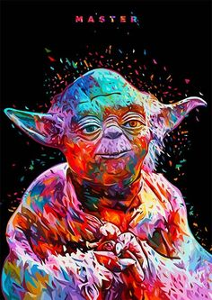 Star Wars Paint by number kit Canvas Creative Wall Art Home Decor DIY Gift Painting Master Yoda Cityscape Jedi Film Star Wars, Star Wars Poster, Star Wars Art, Star Wars Prints, Canvas Poster, Canvas Art, Canvas Prints, Art Prints, Poster Prints