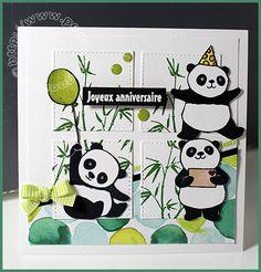 Carte Scrap # 961 - Panda Stampin'up! - SU!