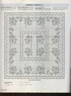 ru / Foto # 31 - 204 - - cortinas crochet ll Crochet Patterns Filet, Crochet Table Runner Pattern, Crochet Doily Diagram, Crochet Designs, Crochet Doilies, Crochet Stitches, Crochet Men, Crochet Books, Fillet Crochet