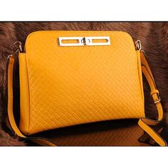 Womens fashion yellow leather clutch evening bags $108.00 - Out of stock