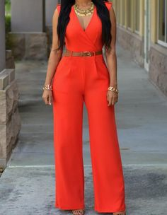 Sexy V Neck Sleeveless Belted White Jumpsuits For Women Trendy Fall Outfits, Classy Outfits, Casual Outfits, Spring Outfits, Cool Outfits, Jumpsuit Outfit, White Jumpsuit, Fitted Jumpsuit, Aliexpress Dresses
