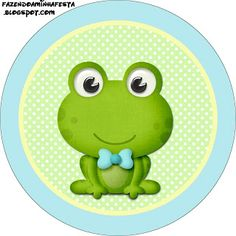 Frog - Full Kit with frames for invitations, labels for goodies, souvenirs and pictures! | Making Our Party
