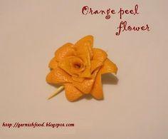 #Orange #Peel #Garnish #Flowers #Easy #DIY #Art Food #Catering #reception  #Decor +++ Guarnicion #flor con #piel de #naranja #Facil #decoracion #comida celebracion #Buffet #catering #Boda #Quince #Fiesta