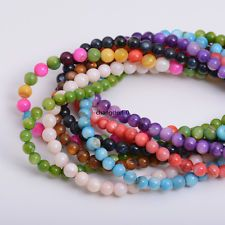 1 Strand Shell Pearl Round Charm Spacer Beads Jewelry Findings 15''