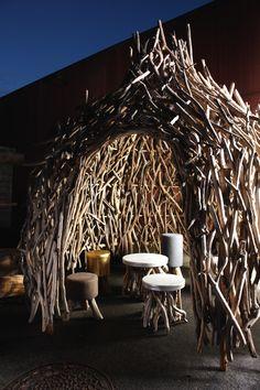 Dome sweet Dome - Bleu Nature Bleu Nature, Driftwood Sculpture, Global Style, Natural Garden, Kid Spaces, Play Houses, Decoration, Scandinavian Design, Grapevine Wreath