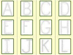 Do A Dot, Letter Worksheets, Preschool, Dots, Lettering, Frame, Alphabet, Stitches, Picture Frame