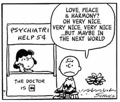 """From """"This Charming Charlie"""", a webcomic tumblr site remixing lyrics from Morrisey with Peanuts comic drawings."""