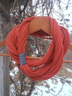 15% off with coupon code BEMYVALENTINE!    Infinity Scarf  Burnt Orange Color by sister9designs on Etsy, $14.00