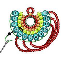 Materials: Miyuki Triangle Matte Silverlined Cobalt - 1 tube T Beaded Jewelry Designs, Bead Jewellery, Seed Bead Jewelry, Seed Bead Earrings, Beaded Earrings, Beaded Bracelets, Jewelry Ideas, Diy Jewelry, Jewelry Accessories