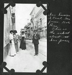 This was the widest road in the town at the time the picture was taken. San Juan, Puerto Rico 1913