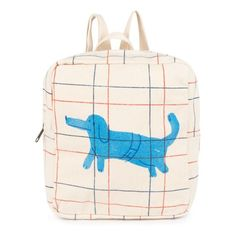 Shop Bobo Choses red-and-blue lines backpack with blue Paul McCartney's dog print, from 'To Make A Garden' collection. Dog School, School Bags For Kids, Kids Bags, Boys Backpacks, Wedding With Kids, Kids Wear, Teen Fashion, Couture, Purses And Bags