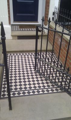 Lovely encaustic tiles and wrought iron gate. Get the look with similar products from Schots Home Emporium: https://www.schots.com.au/tiles-parquetry/floor-tiles/dreux-encaustic-tile-border.html https://www.schots.com.au/maderno-mosaic-16-piece-sheet-black-white-kaitmm4305bw.html https://www.schots.com.au/palermo-mosaic-tile-black-beige-kaitpblbe305.html