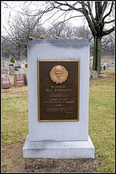 Celebrity headstones> Mr. Bojangles (Bill Robinson), singer & songwriter.