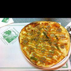 Pizza de calçots al Lago di Como!!!!