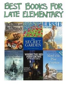 A Selection of the Best Books for Late Elementary Selected by Cross-Referencing Numerous Best-Books-for-Kids Books - ResearchParent.com
