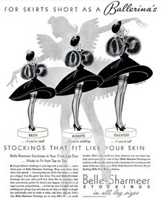 1937 Vintage Advert - Belle-Sharmeer Stockings