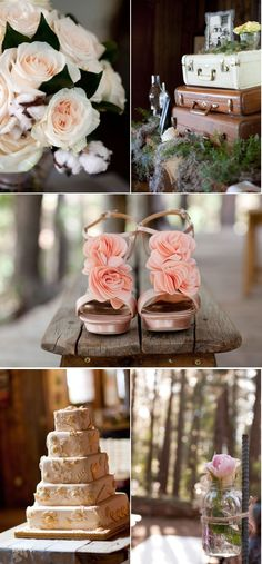 Ceremony decor & suitcase display