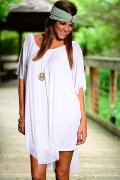 WOW! This white blouse is magical! This flowy dress is truly a delight to wear and we love the fluttery top layer! So delicate and so fun to accessorize!