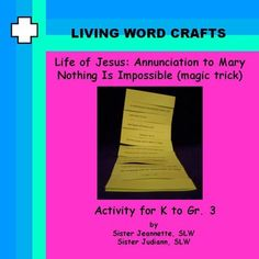 Life of Jesus - Annunciation - Magic Trick for K to