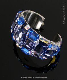 Tanzanite  Sapphire Andre Bracelet  Made with Swarovski Elements