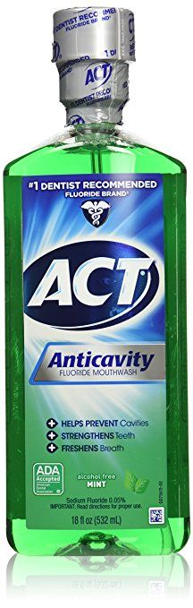 ACT Alcohol Free Anticavity Fluoride Rinse Mint 18 oz >>> You can find out more details at the link of the image. Best Mouthwash, Stronger Teeth, How To Prevent Cavities, Thing 1, Dental Supplies, Oral Hygiene, Alcohol Free, Dental Care, Products