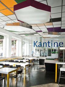 Das ehemalige Gebäude der Druckerei Rotaprint ist nicht nur eins der stärksten in Berlin, sondern beherbergt außerdem eine leckere, supersolide und preisgünstige Kantine.