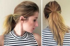 Crimped ponytail with volume on xoJane #texture #hairstyle