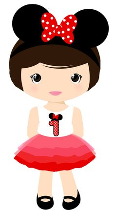 MINIE E MICKEY Minnie Mouse Party, Mouse Parties, Diy And Crafts, Crafts For Kids, Arts And Crafts, Cute Cartoon Girl, Clip Art, Cute Clipart, Cute Images