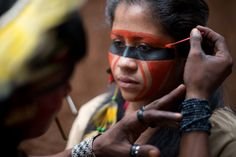 indian face paint meanings - Google Search