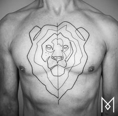 Mo Ganji lion tattoo