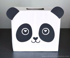 Panda Valentine Card Box at artsyfartsymama.com