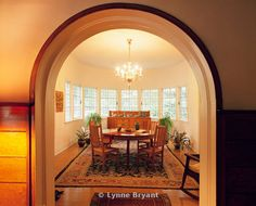 George Blossom House. Interior - Dining Room. 4858 S. Kenwood Ave., Chicago Illinois.