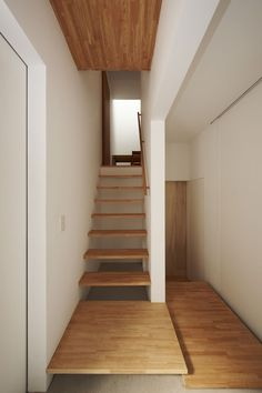 Remarkable Small House Staircase Designs Interior Architecture House Designed By Tato Architects Pictures 66 Small Space Staircase, House Staircase, Staircase Design, Stair Design, Narrow Staircase, Loft Stairs, Floating Staircase, Wooden Staircases, Wooden Stairs