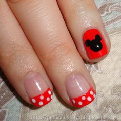 For my half marathon at Disney.... I THINK SO!!!! minnie mouse nails