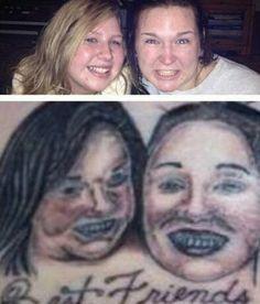 portrait tattoos gone wrong * portrait tattoos gone wrong Tattoo Artists Near Me, Famous Tattoo Artists, Female Tattoo Artists, Tattoo Fails, Bff Tattoos, Best Friend Tattoos, Worst Tattoos, Funny Tattoos, Tattoos Gone Wrong
