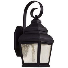 "Mossoro 14 1/4"" High Black LED Outdoor Wall Light - #6D100 
