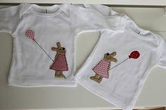 Langarmshirts - (Geschwister)-Langarmshirts 'Hase' - ein Designerstück von milla-louise bei DaWanda
