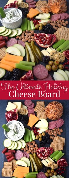 The Ultimate Holiday Cheese Board Light Appetizers, Holiday Appetizers, Holiday Recipes, Christmas Recipes, Christmas Time, Greek Yogurt Ranch Dip, Homemade Greek Yogurt, Healthy Cookie Recipes, Snack Recipes
