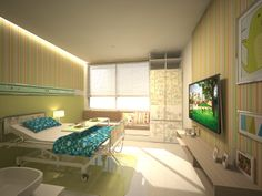 pediatric hospital patient's room