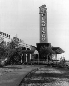 """1946 - Benjamin """"Bugsy"""" Siegel opens the Flamingo Hotel & Casino, the third hotel on what would become the Las Vegas Strip Vegas Casino, Las Vegas Strip, Las Vegas Nevada, Casino Movie, Hotels And Resorts, Best Hotels, Luxury Hotels, Bugsy Siegel, Flamingo Hotel"""