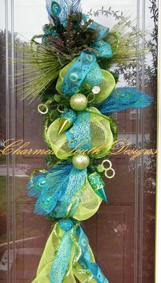 Christmas peacock swag by Charmed South Designs